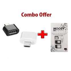 Nano Sim Adapter + USB OTG Adapter for Micro/V8