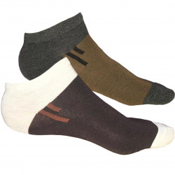 TP Kart, Unisex Ankle Length Cotton Socks- Pack of 2 | Dark Brown, Light Brown | Fits till size UK 8