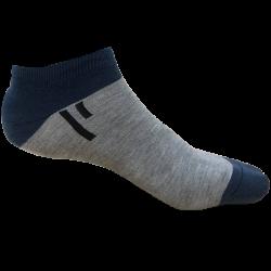 TP Kart, Unisex Ankle Length Cotton Socks- Pack of 2 | Blue, Light Grey | Fits till size UK 8