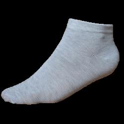 TP Kart, Black - Grey, Unisex Ankle Length Cotton Socks- Pack of 3 | Size UK 4 - UK 10