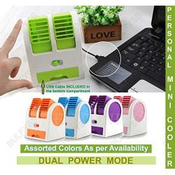Mini USB Fragrance Air Cooling Fan Portable Desktop Dual Blower Bladeless Air Cooler