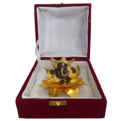 "Ganesha Ganpati Idol Gift Pack Statue 4""- Resin Brown"