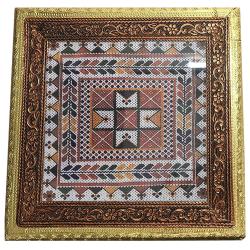Wooden Handicraft Chowki Or Bajot Pooja - 8 inch