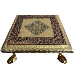 Wooden Chowki Or Bajot Pooja - 6 inch