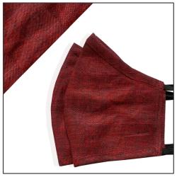 Garnet Linen Fashion Mask for Men - Skin Friendly, Reusable, Washable Fabric, Light Weight & Comfortable, Set Of 2