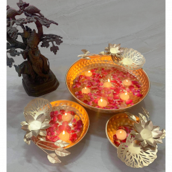 Beautiful Iron Decorative Urli For Home Decor, Set Of 3