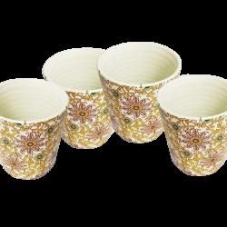 Handmade Artisanal Tea/Coffee Mug With Floral Prints - Handcrafted Mugs